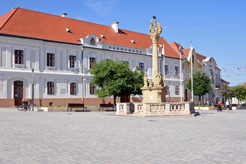 Town square, Keszthely, Hungary, 7 May 2018 2.
