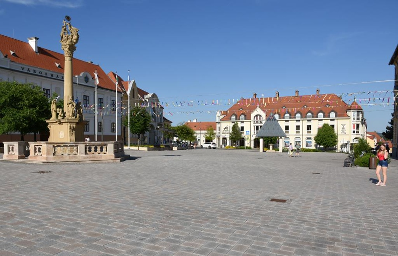 Town square, Keszthely, Hungary, 7 May 2018 1.