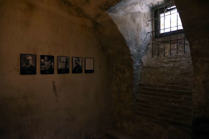 Reconstructed cell, House of Terror Museum, 60 Andrassy Avenue, Budapest, 12 May 2018.