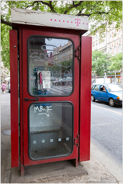 "The classic ""Red telephone box""."