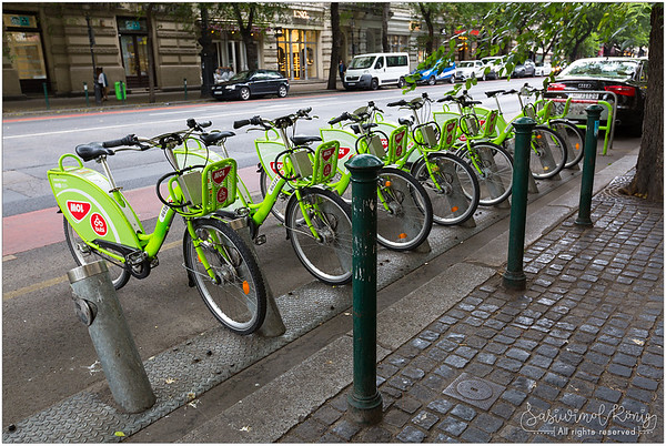 BuBi - bicycle sharing network in Budapest, Hungary