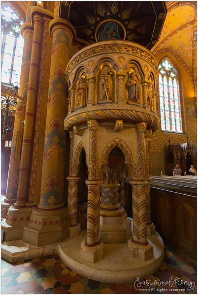 The pulpit of Matthias church