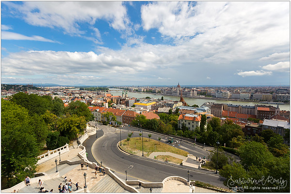 Danube river, view from the Fisherman's Bastion, Budapest