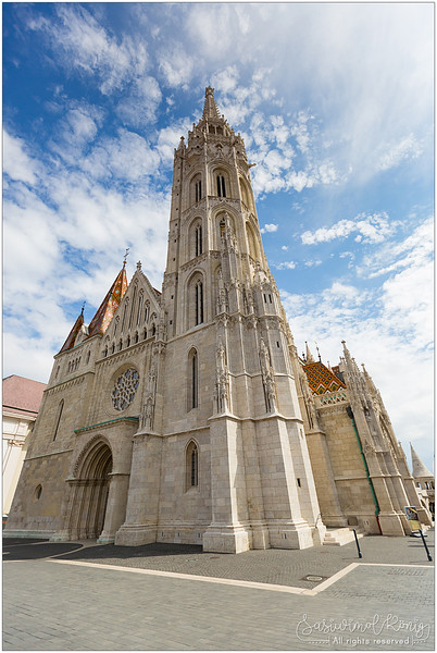Matthias Church against blue sky.. lovely, isn't it?