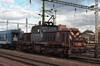 MAV V46 051 waits for its next job in the sidings adjacent to Szombathely station on 10 November 2006