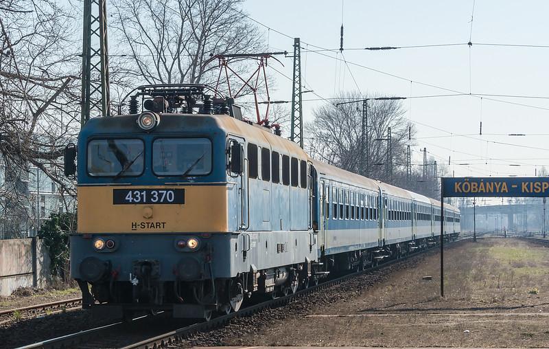 MAV 431-370 Kobanya-Kispest 22 March