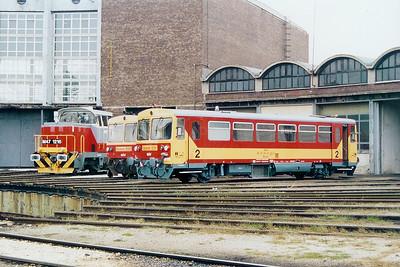 Bzmot 331 at Szekesfehervar Depot on 8th October 2003