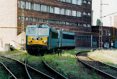 V63 153 at Ferencvaros Depot on 16th May 2002
