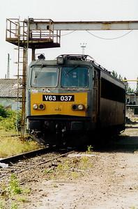 V63 037 at Ferencvaros Depot on 16th May 2002
