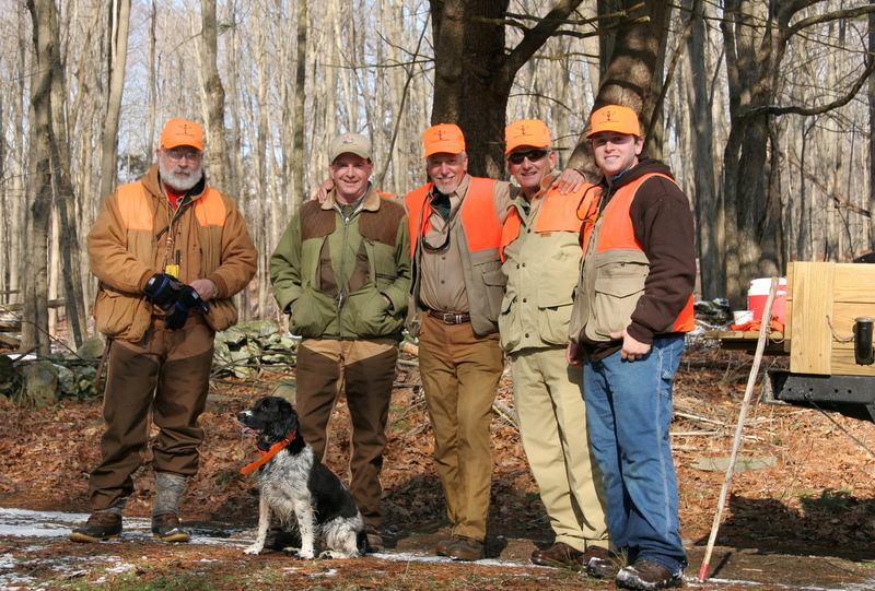 Tom Houston, Emma, Tom Mackin the owner of TMT, Artie Cipoletti, Captain Al Lorenzetti and Phil Mascolo.<br /> <br /> If you might be interested in a hunt and or sporting clays at TMT give Tom a call at 845-266-5108.  You can hunt with a guide and dog or hunt alone with your own dog if you wish.  There are lots of options at TMT and I will guarantee a great time.<br /> <br /> Captain Al Lorenzetti
