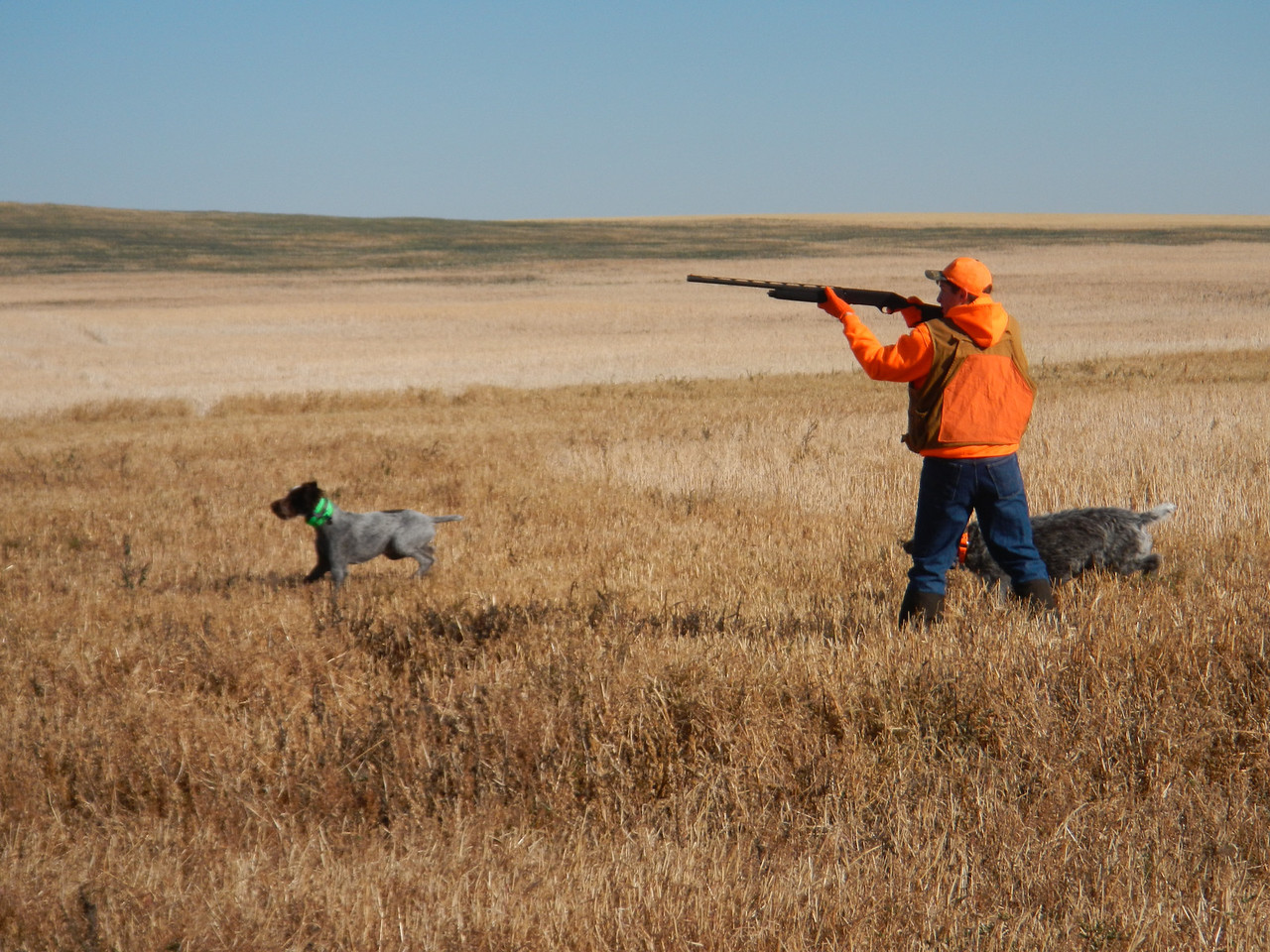 Darren Robbins on ND youth hunt with Ace of Two Rivers crossing and Abe of Ash Coulee