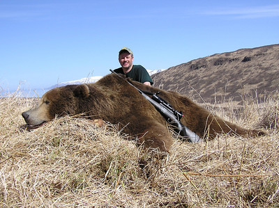 Jimmy Crawford took this exceptional Alaskan Brown Bear in a Spring season hunting with Bear Lake Lodge. Jim and Don did a lot of glassing, followed by even more walking to locate this 10 foot bear on the Alaskan Peninsula. Hunts are offered exclusively through Anderson Taxidermy & Guide Service, Inc. Contact Don Anderson to inquire about booking your hunt for the new year ahead. www.thehuntpro.com
