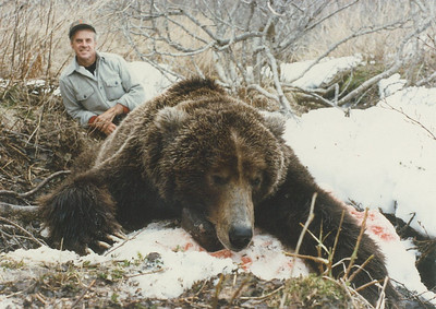 Otto Candies of Louisiana was guided by Don Anderson near the head of Bear Lake located on the Alaskan Peninsula. This bear is one of many guided by Don over the years from Bear Lake Lodge. Otto took this magnificent Alaskan Brown Bear while hunting the Alaskan Peninsula in a Spring Brown Bear season. This bear squared better then 10 feet. Hunts are offered exclusively through Anderson Taxidermy & Guide Service, Inc. Contact Don Anderson to inquire about booking your hunt for the new year ahead. www.thehuntpro.com