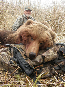 Spring Brown Bear hunts are offered in even years. This Alaska Brown Bear was taken when Hubert Kennedy of Texas returned to Bear Lake Lodge to hunt yet again with Guide Don Anderson. Hubert and his wife Ruth have hunted with Don on several occasions hunting in Alaska, California and Mexico. Hunts are offered exclusively through Anderson Taxidermy & Guide Service, Inc. Contact Don Anderson to inquire about booking your hunt for the new year ahead. www.thehuntpro.com