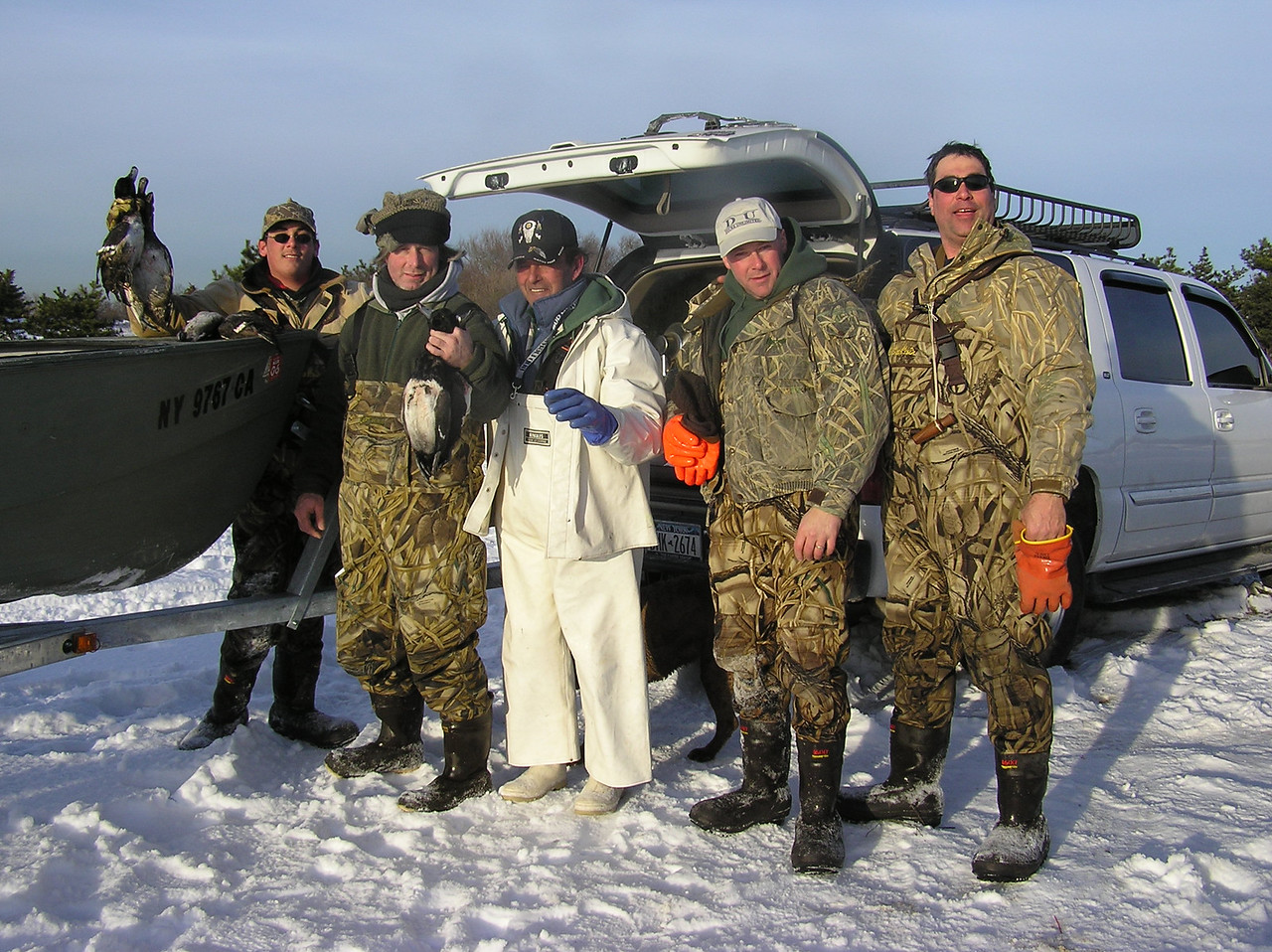 Here is part of the hunting group.  Dillon, Bill, John, Tony and Scott.