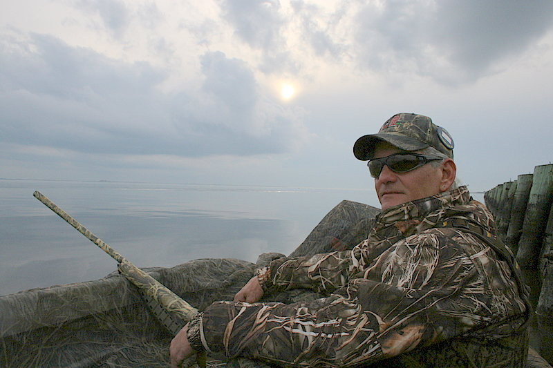 Buddy took a few shots while hunting.  This is me sitting and waiting for some birds.