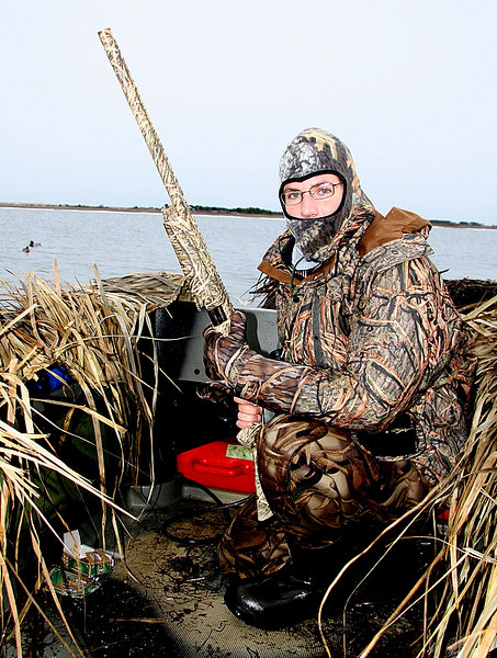 Here is Julien all ready to go in the early morning.  It was cold and windy but we were well dressed for the occasion.  We were outfitted with the best that Cabela's has to offer in waterfowling clothing.  Thank goodness for Cabela's.