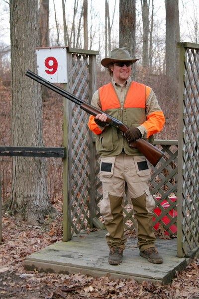"""1/19/2007<br /> <br /> Today was a great day of upland hunting and sporting clays at the TMT Preserve in Clinton Hollow, NY.  Here is Buddy Cipoletti at the end of the day on the sporting clays course.<br /> <br /> Click on the link below to view more images<br /> <br /> <a href=""""http://skimmer.smugmug.com/gallery/2523077/1/132562975"""">http://skimmer.smugmug.com/gallery/2523077/1/132562975</a>"""