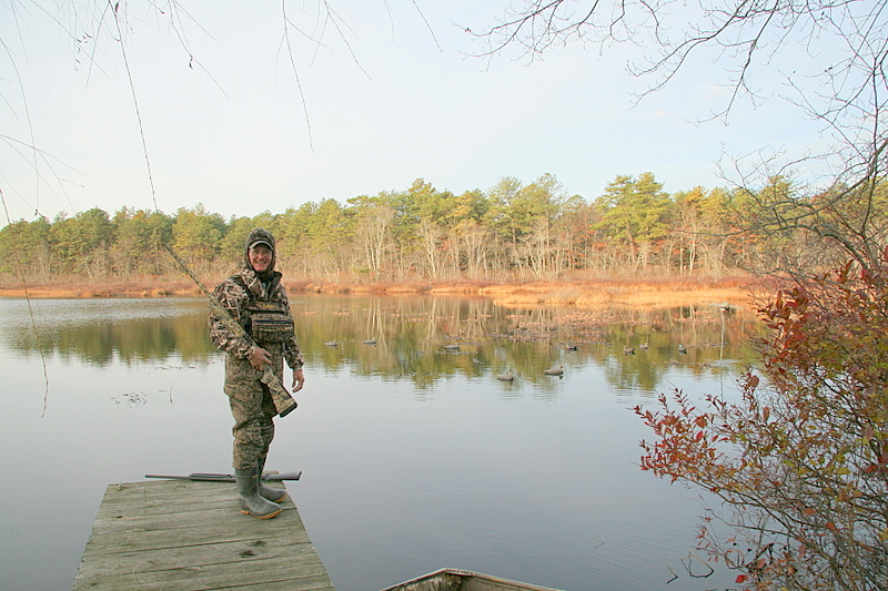 Jim took a photo of me so I make another appearance on my website.<br /> <br /> The Club is really a beautiful place and I love to hunt it even though it may be slow sometimes.<br /> <br /> Captain Al Lorenzetti