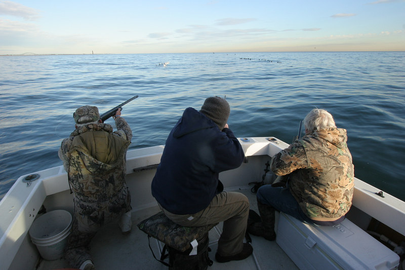 12/11/2006<br /> <br /> Jim Conte, Pete Johnston and I did a little sea duck hunt in the ocean along the South Shore of Long Island.  We went out on Tim Smith's Cape Dory and enjoyed lots of comfort on a beautiful day.  We also had some nice gunning.  Jimmy and I are taking a couple of pretty long shots but we did knock down one of these birds.