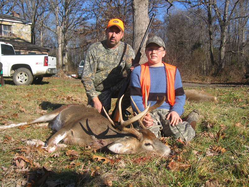 I believe this is Cody's second deer, a nine pointer taken with buckshot again in Virginia and this was taken on Cody's first time alone in a deer stand.