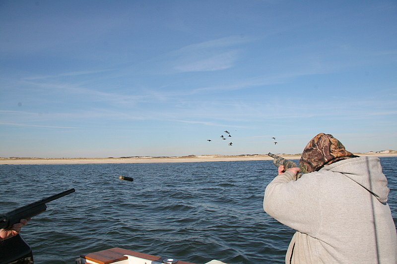 Here we have Pete and Jim working a bunch of tending ducks with shells flying.  These ducks are fast and tough.  You have to make a great shot to bring them down and you have to use the right ammo or they will laugh at you.