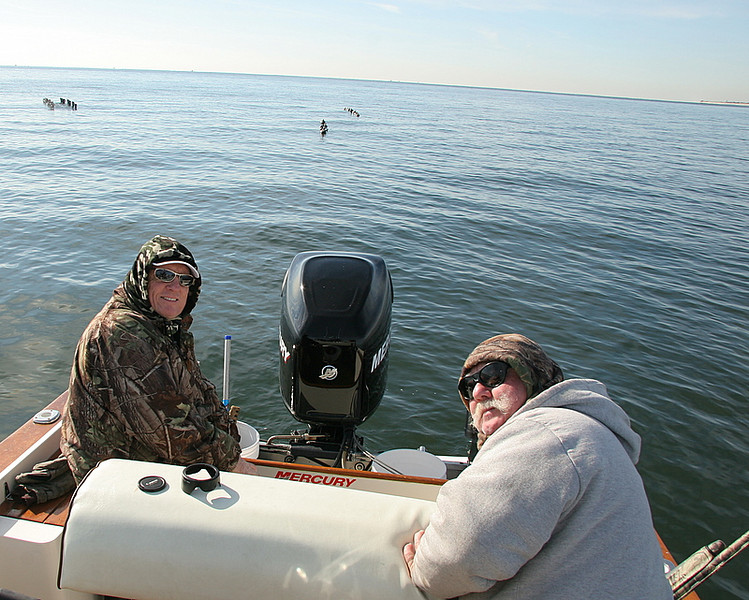 11/24/2007<br /> <br /> I went hunting today with my buddies Jim Conte left and Pete Johnston on right.<br /> <br /> We had a great day with sea ducks limiting out and having a great time on a beautiful day in November.