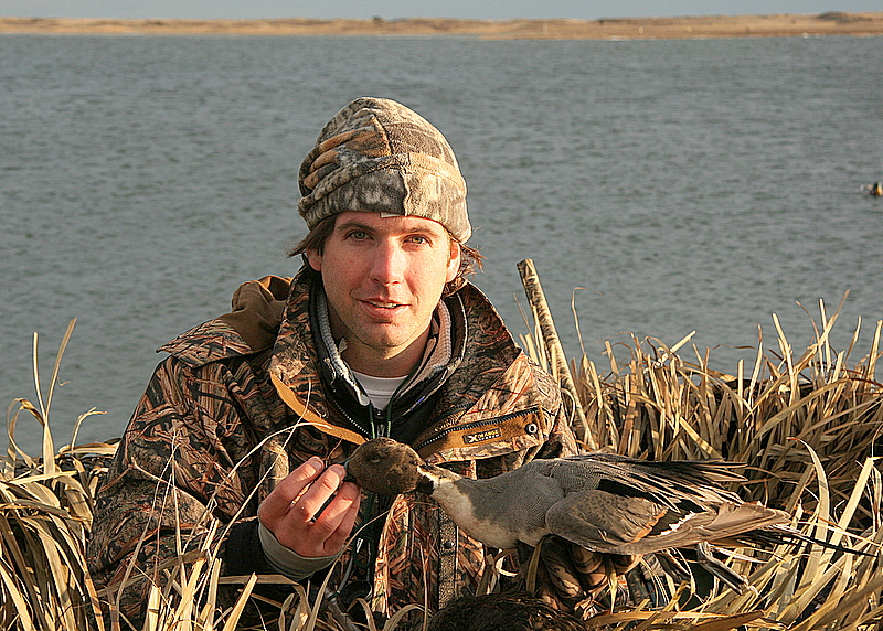 Here is Julien with the beautiful drake pintail.