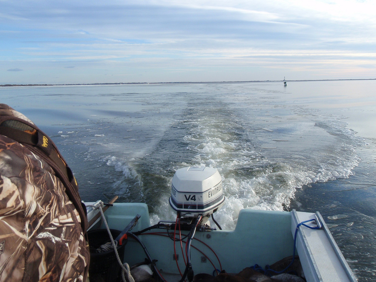 Breaking ice with the pointer.