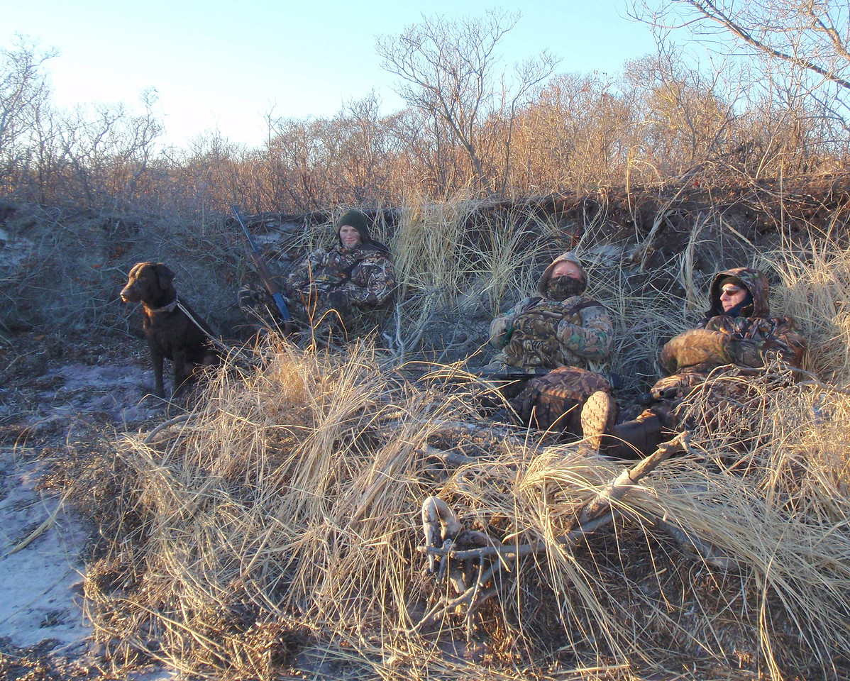 This was our set up for hiding along the shore. It worked real well with ducks and geese tending like we weren't there.