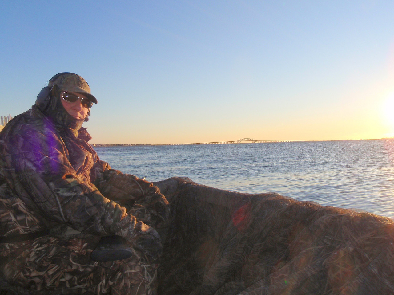 Jim Conte in the photo and I did a couple of shoots and did pretty well with broadbill and brant. The weather has gotten cold but good for hunting.
