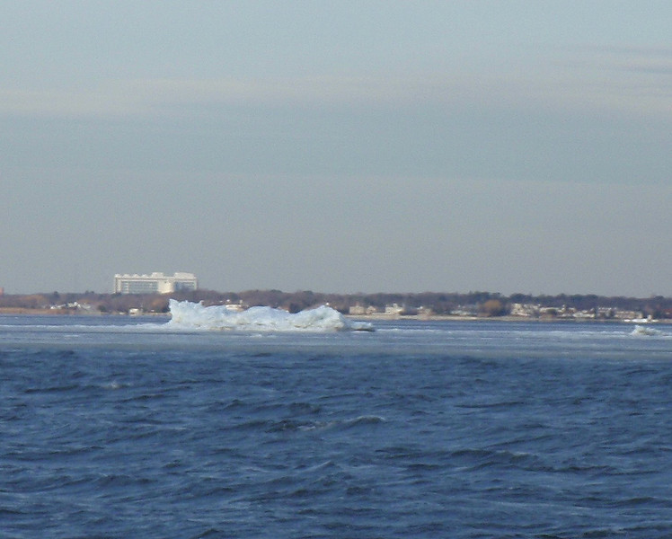 Icebergs on the bay. This one about 10 feet high.