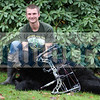 Spencer Gonzalez shot this 230-pound bear with a bow on October 18 in Monticello.