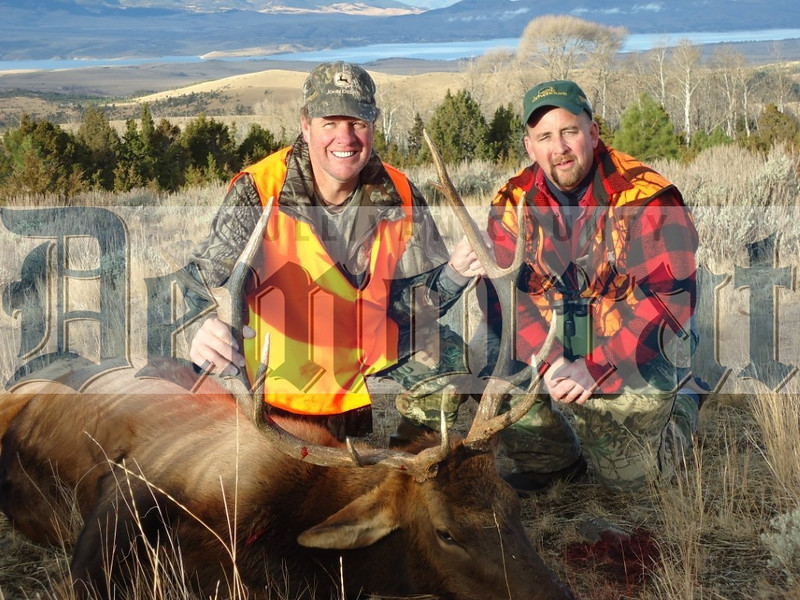 Mark Murphy (left) of Callicoon and David Bodenstein of Jeffersonville went to Montana on a hunting expedition where Mark shot this 5 by 5 elk.