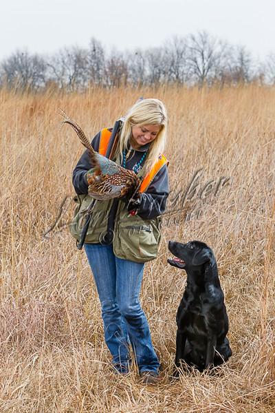 Hunting upland birds, female hunter, woman hunter