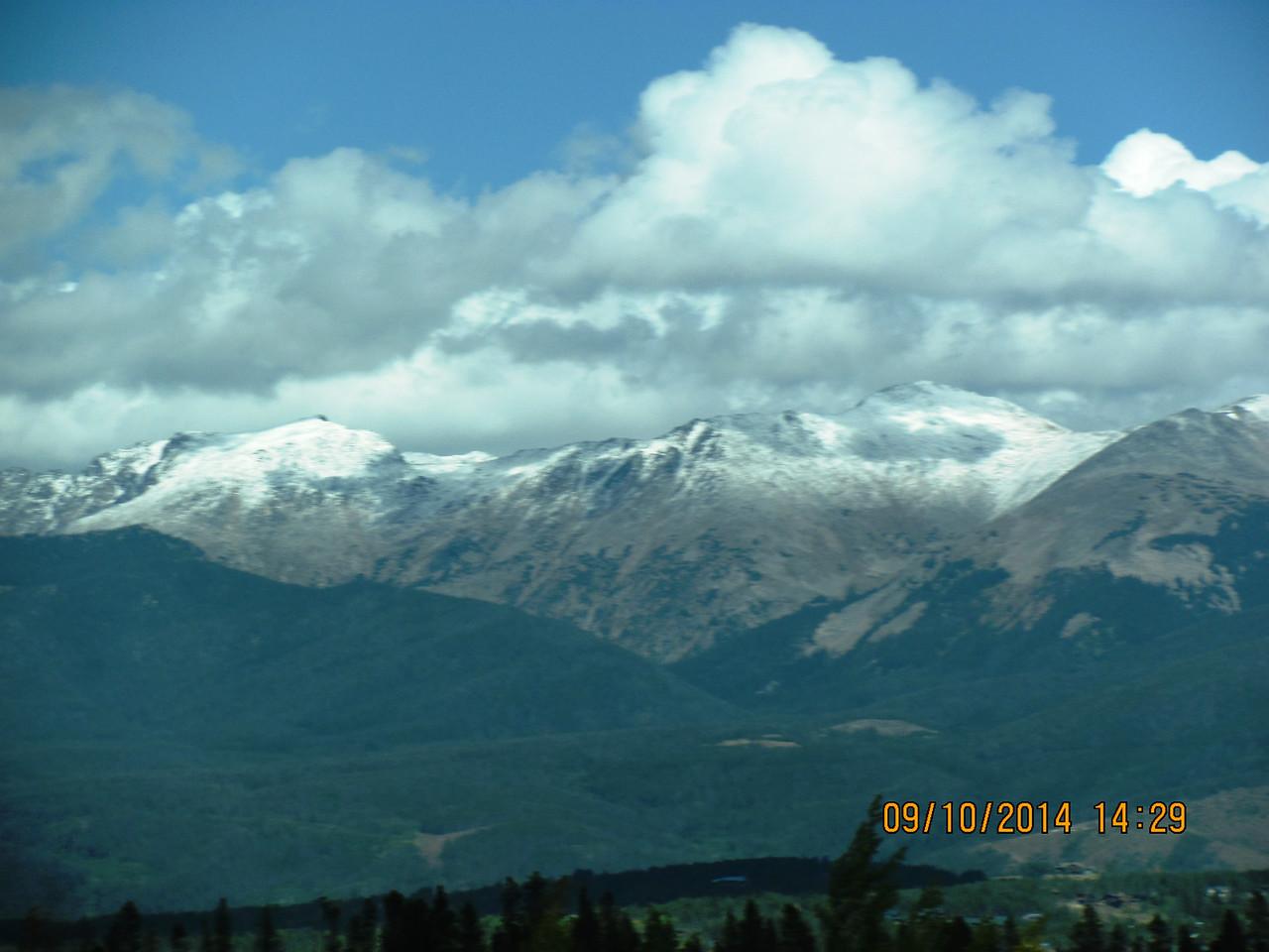 Snow on the high peaks already