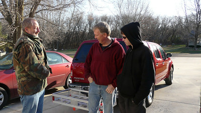 Kirby, me and Spencer ready to leave on the 2011 hunting adventure!
