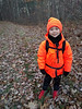 Bryce all bundled up and ready to go on his first hunting outing!