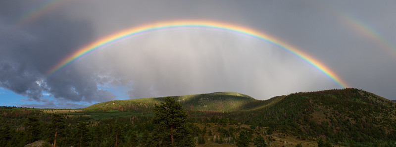 Double Rainbow over the Boulder Mountains, Utah