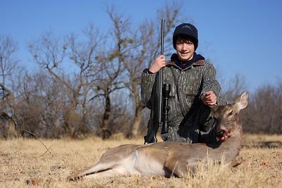 Aaron killed his second deer on January 17, 2009.