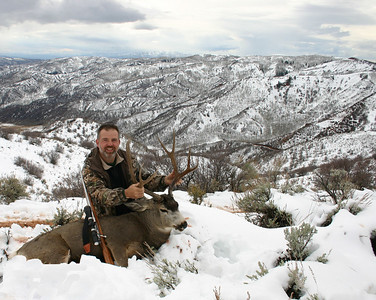 2004 - Near the top of Coal Hollow - Hopkin Ranch, Utah - 2 feet of snow and a 265 yard offhand shot!