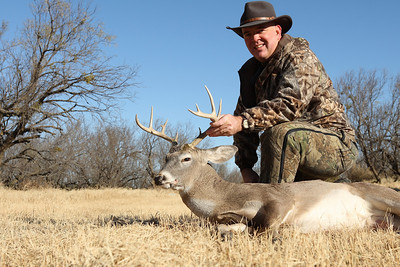The world's smallest 11-point buck taken at Salt Fork Ranch near Aspermont, Texas, on November 30, 2010.