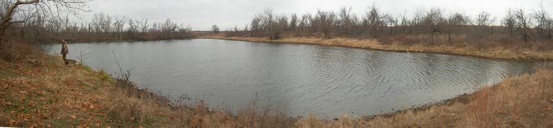 Pond on the Edwards' land we mostly hunted on.