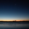 Dawn and Jupiter over Jim Stamford's pond.