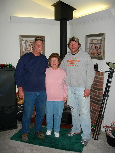 Our hosts in Talala, OK - Joe & Winnie Edwards with grandson Brandon.