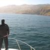 "Santa Cruz Island, Nathaniel on the deck of the ""HYDRA"""
