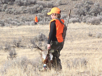 This young hunter was among many who took a pheasant during a youth pheasant hunt at the Douglas/Sorenson Walk-In Access Area.  Photo by Alan Peterson