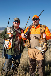 Terrance and Brandon Hawkins had a blast during the 2013 pheasant hunt. Photo by Michael Christensen, Utah Division of Wildlife Resources.