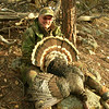 Harry and his turkey, also 20#, with 5 1/4 beard and 5/8 spurs. My birds tail feathers were more tannish.