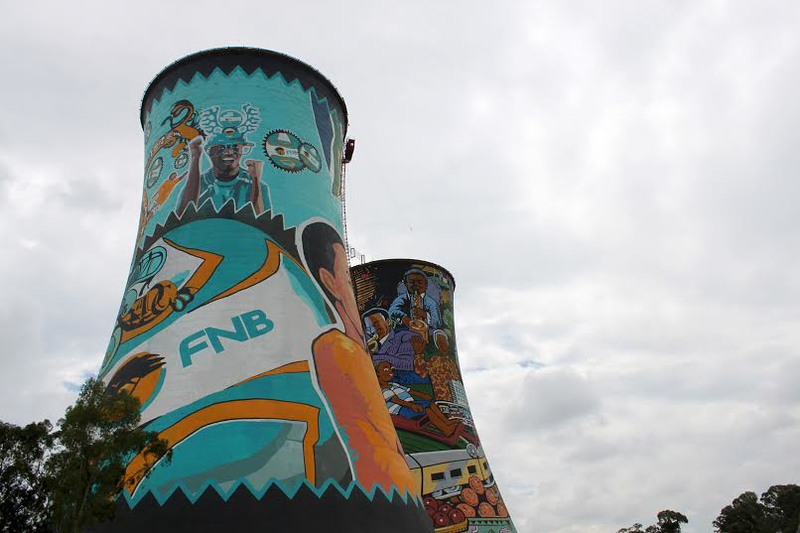 Cooling Tower Grafitti, Soweto, South Africa (c)2011